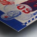 1955 Pro Bowl Football Ticket Stub Art Metal print