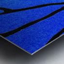 Ultramarine Forest Winter Blues I Metal print