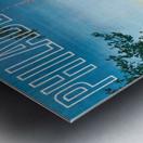 Greyhound Bus Travel Poster for Philadelphia Metal print