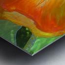 Polyptic with irises 2 by Vali Irina Ciobanu Metal print