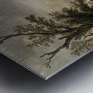 Sandy road with a farmhouse Metal print