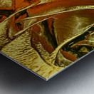 Just Golden Metal print