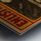 Enlist in the Navy Metal print