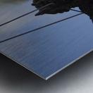 Cherub Silhouette Metal print