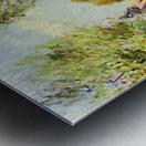 Houses on the banks of the Loing by Sisley Metal print