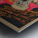 La Houppa Original Vintage advertisement lithograph poster Metal print