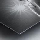 Snow splash over the edge Metal print