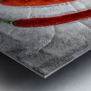 Frozen fire Metal print