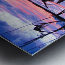 Low winter sunset Metal print