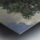Painting of a big green tree Metal print