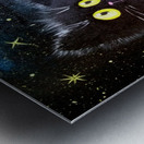 Черный кот Metal print