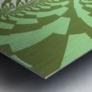 Green Abstract Metal print