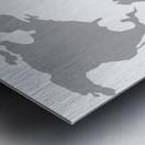 World Map Grey Style Metal print
