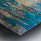 green sea turtle swimming in ocean sea Metal print