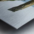 Balancing rock, basalt rock cliffs, Bay of Fundy; Long Island, Nova Scotia, Canada Metal print