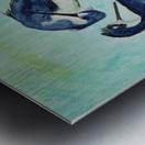 Stilts Bathing  Metal print
