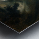 Sturmische See mit Leuchtturm Impression metal