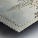 Nieuwstraat door Metal print