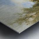 Farm on polder canal Metal print