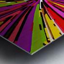psychedelic geometric graffiti line pattern in pink purple yellow green red Metal print