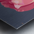pink rose with grey background Metal print