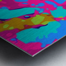 splash graffiti painting abstract in pink blue green Metal print