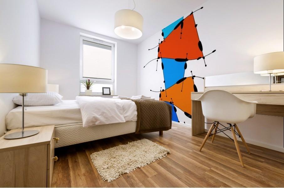 Sanomessia - melting cubes Mural print
