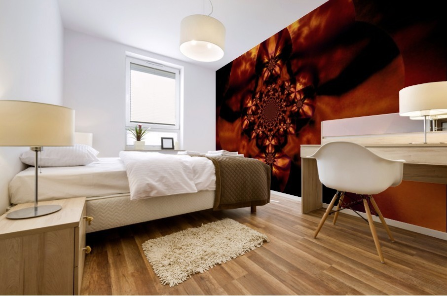 Fire Orchid 1 Mural print