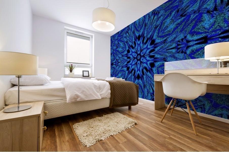 Electric Blue 1 Mural print