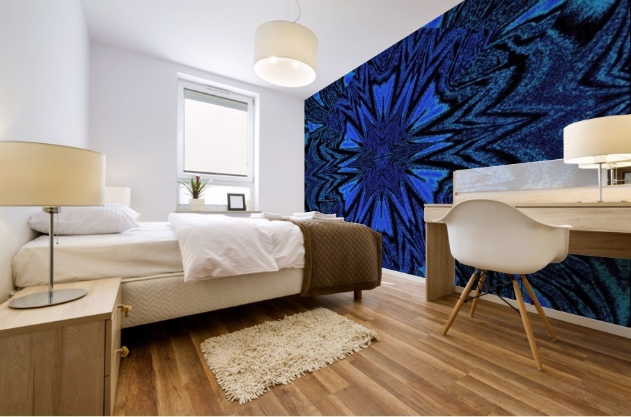 Electric Blue 2 Mural print