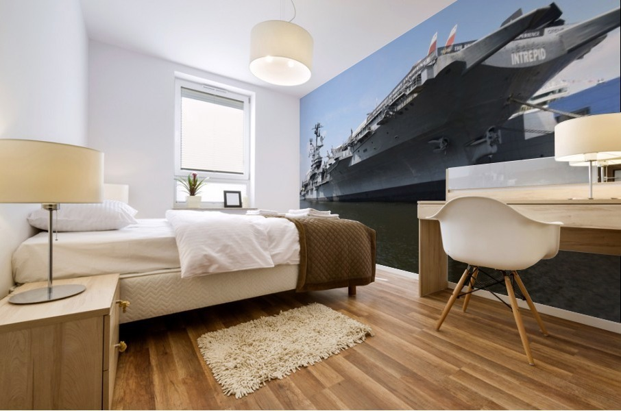 THE INTREPID, NEW YORK Mural print