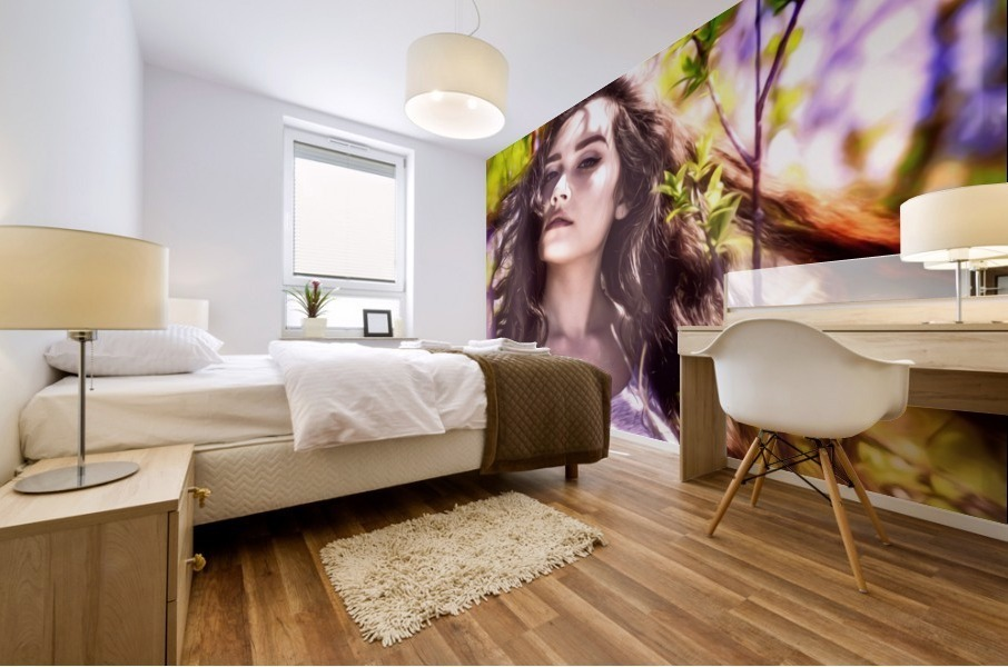 BeautifulLadyPicArt Mural print