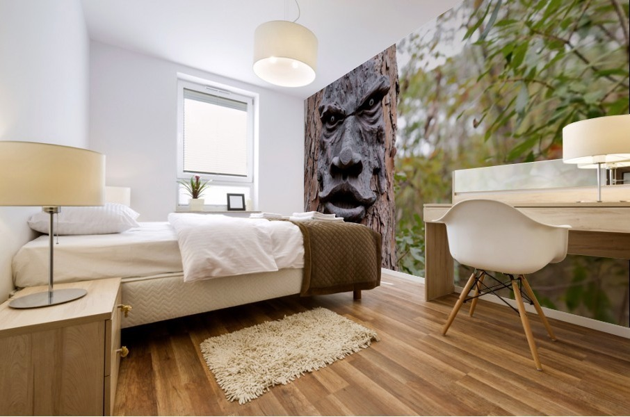 The Animated Forest Mural print