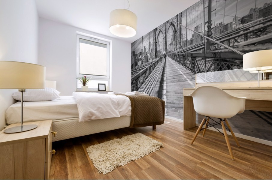 NEW YORK CITY Brooklyn Bridge Mural print