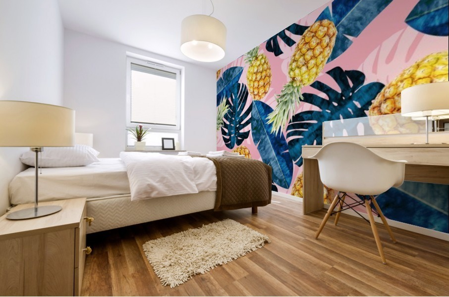 Tropical and exotic pattern Mural print