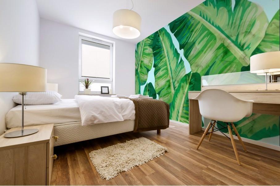 Tropical and exotic pattern II Mural print