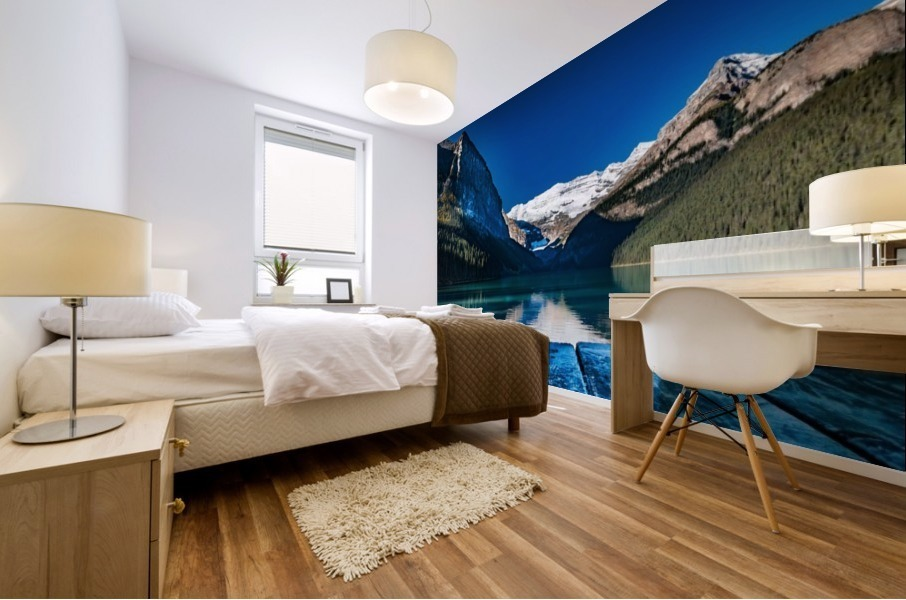 Lake Louise Dock Mural print