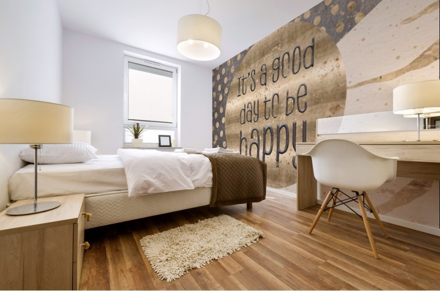 GRAPHIC ART It is a good day to be happy Mural print