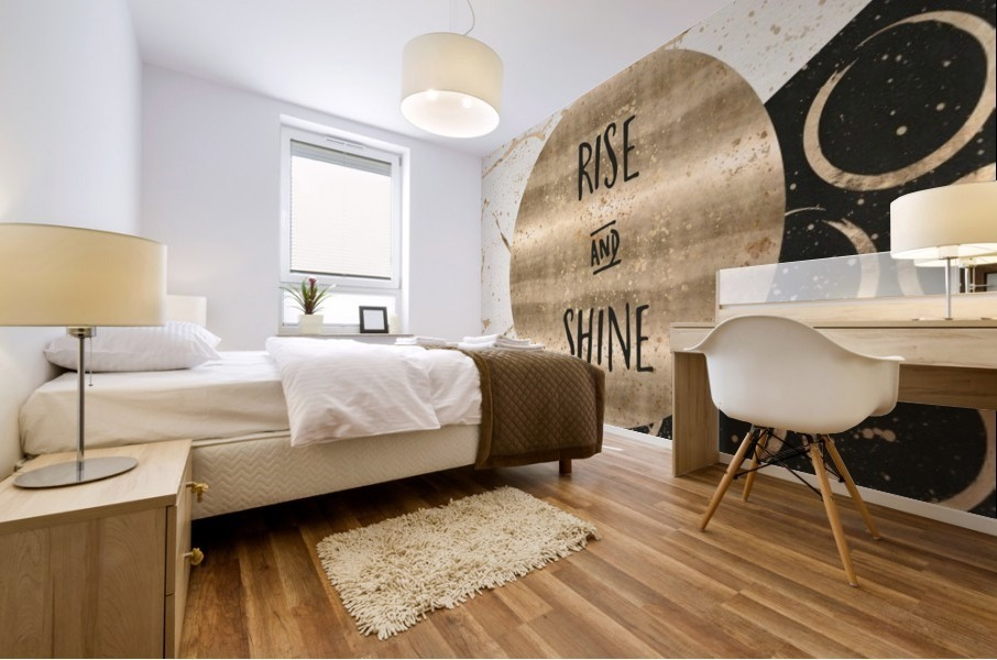 GRAPHIC ART Rise and shine Mural print