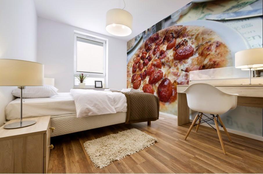 Pizza dans le Jardin de Nelson Mural print
