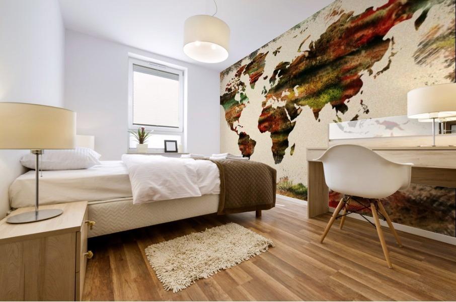 World Map Decorative Painting Mural print