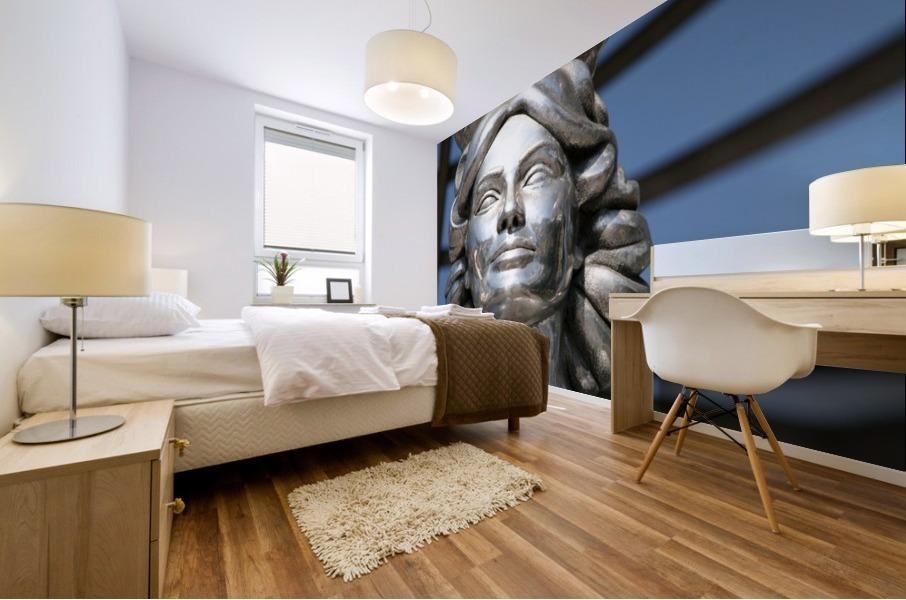 Silver Statue Face of Dorothy Dandridge Mural print