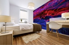 lights abstract curves long exposure Mural print