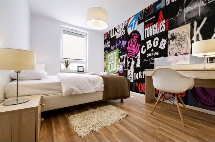 Rock & Roll Stickers Mural print