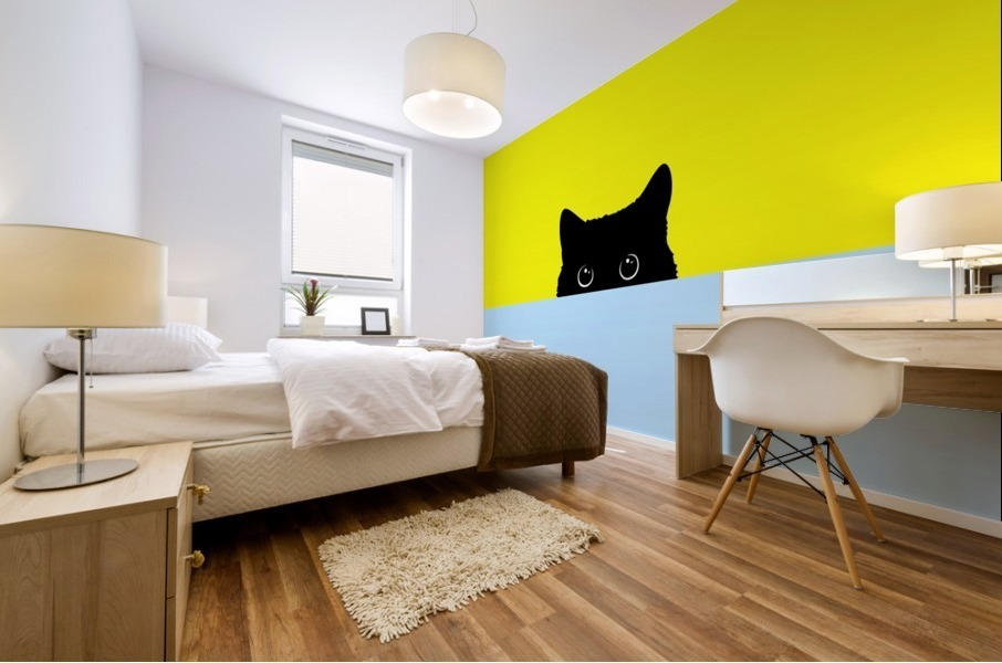 Kitty Mural print