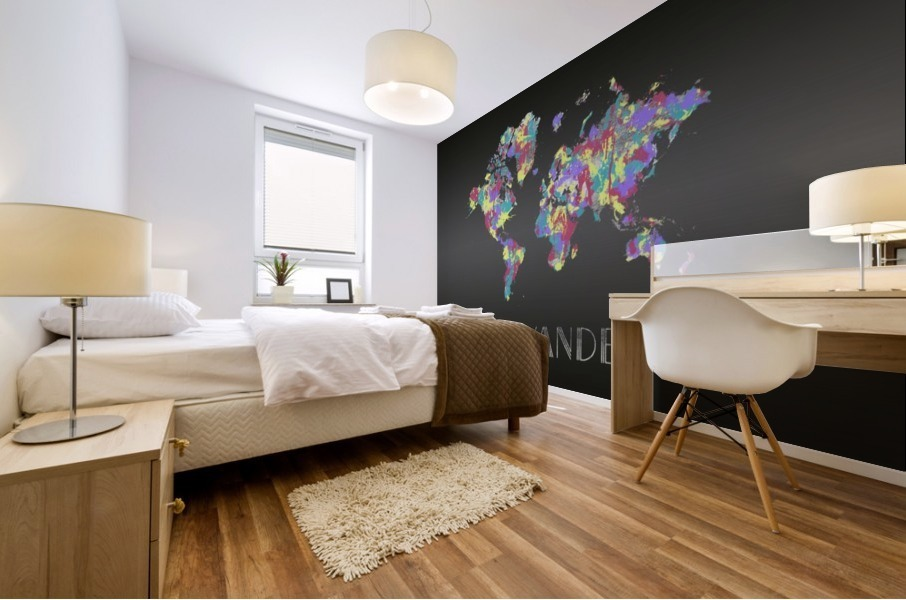Graphic Art CRAZY WANDERLUST | Splashes Mural print