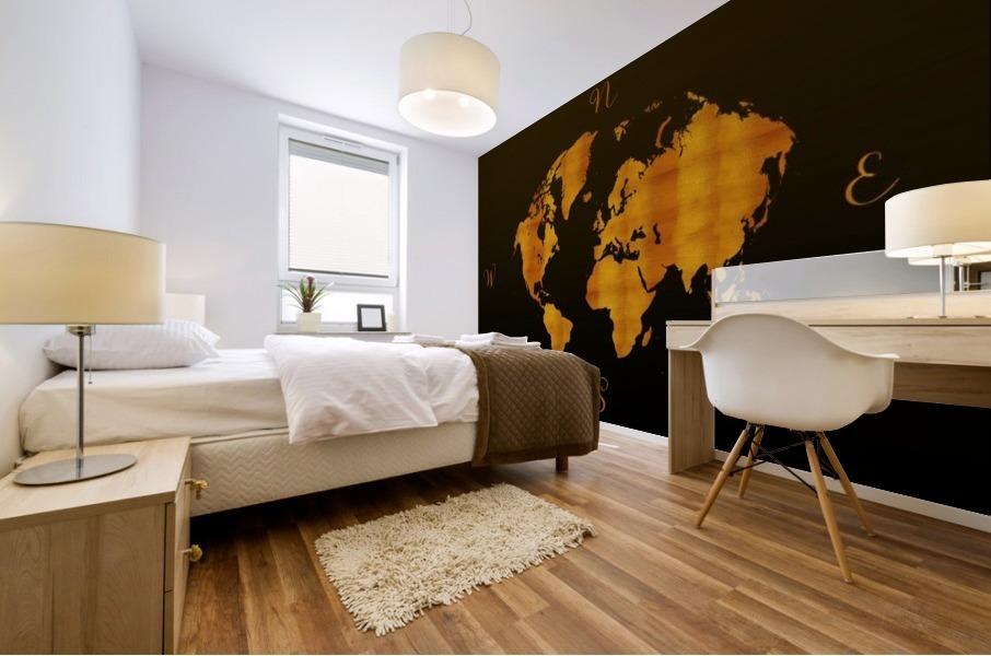MODERN GRAPHIC ART World Map |  | Redgold Mural print