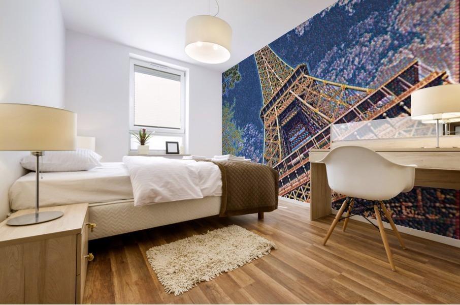 Eiffel Tower- Abstract Mural print
