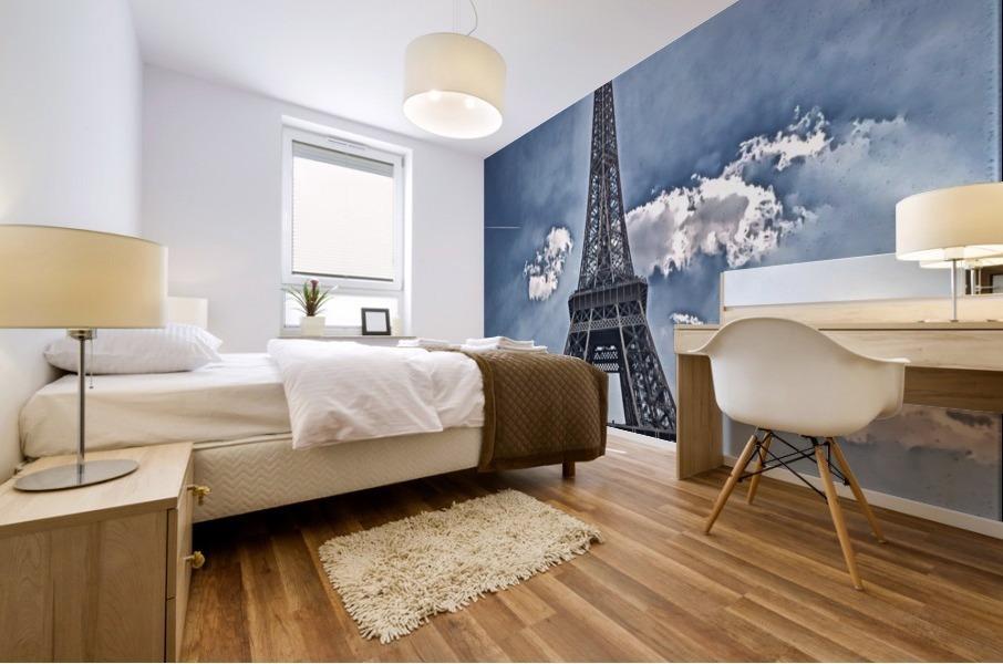 Sky & Eiffel Mural print