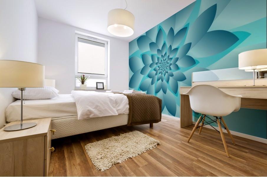 Modern Optical Illusion Floral Art Mural print